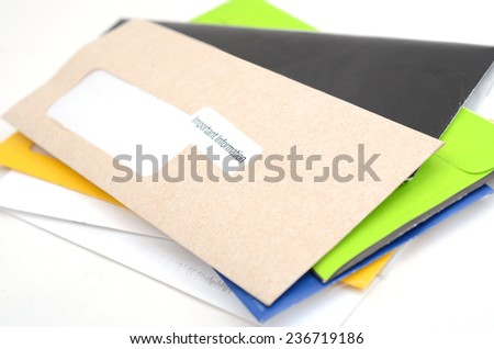 Mails and bills on stacking  - stock photo