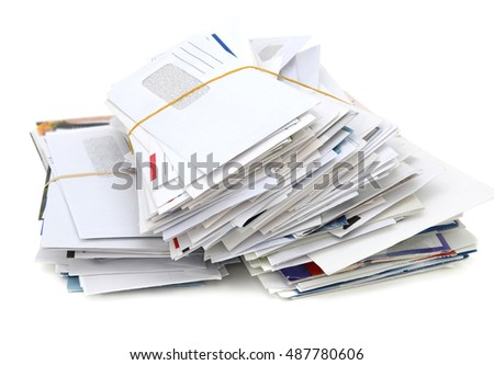 Mails and bills on stacking