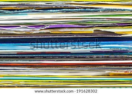 Mails and bills on stacking background - stock photo