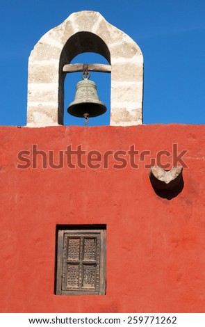 Main Bell of Santa Catalina Monastery in Arequipa - stock photo