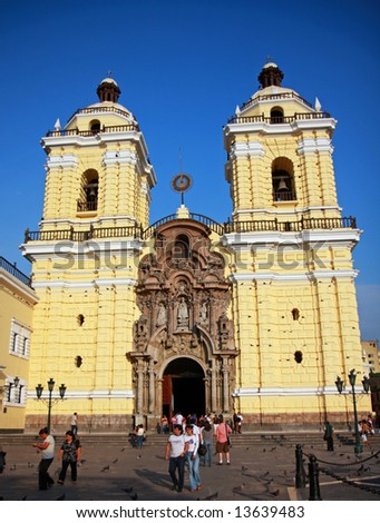 Main Cathedral in Lima, Peru - stock photo