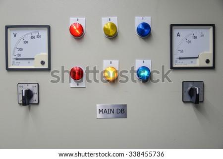 Main circuit breaker - stock photo