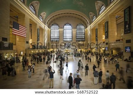 Main hall Grand Central Terminal, New York - stock photo