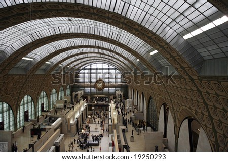 Main hall of the d Orsay Museum in Paris - stock photo