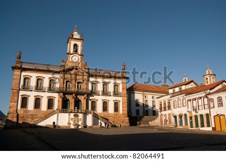 Main plaza in Ouro Preto, Brazil