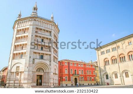 Main square of Parma, Emilia-Romagna, Italy - stock photo