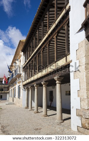 Main Square of 17th Century in Tembleque, Toledo province, Castilla la Mancha, Spain