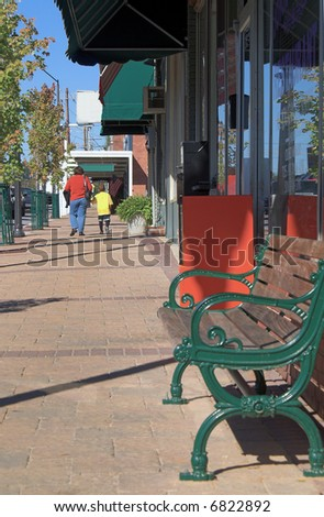 Main Street - stock photo