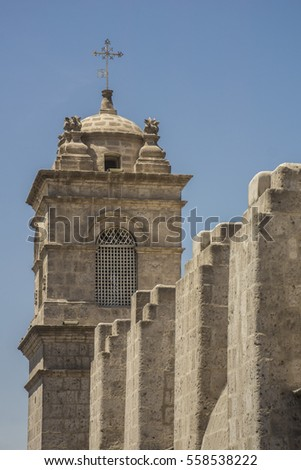 Main tower of Santa Catalina Monastery, Arequipa, Peru