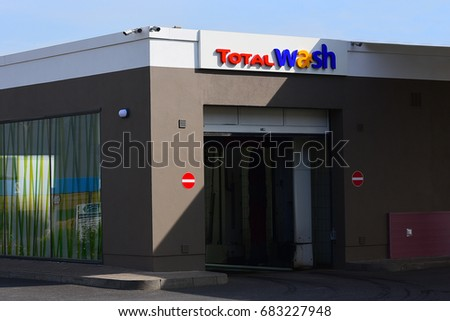 mainzgermanyjuly 17 total car wash on stock photo royalty free 683227948 shutterstock. Black Bedroom Furniture Sets. Home Design Ideas