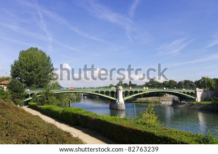 Maison-Alfort Bridge over Marne river