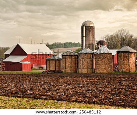 barn and silo stock photos images pictures shutterstock. Black Bedroom Furniture Sets. Home Design Ideas