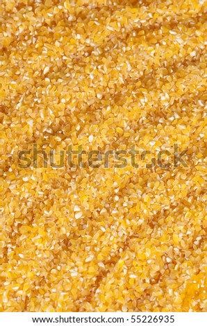 Maize flour - gluten free, background , vertical - stock photo