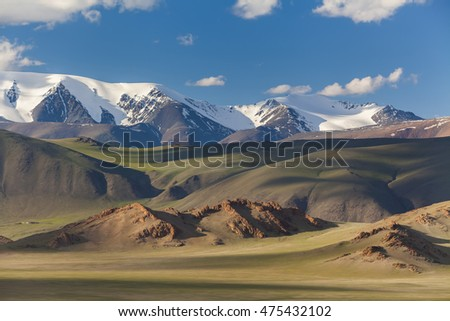 Majestic landscape with a view of the mountain hills