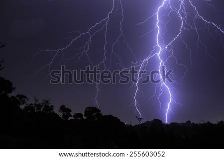 Majestic lightning bolt - stock photo