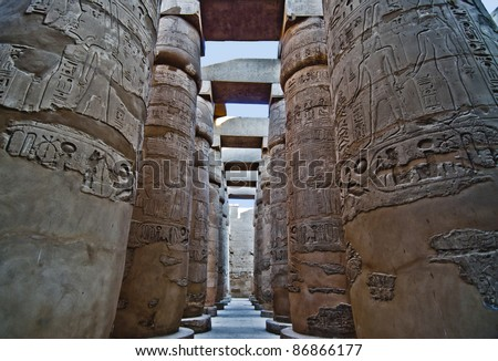 Majestic Luxor Temple in Egypt - stock photo