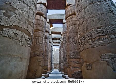 Majestic Luxor Temple in Egypt - stock photo