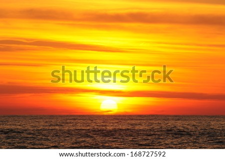 Majestic sunset over the Black Sea