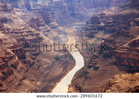 Majestic view of the grand canyon - stock photo