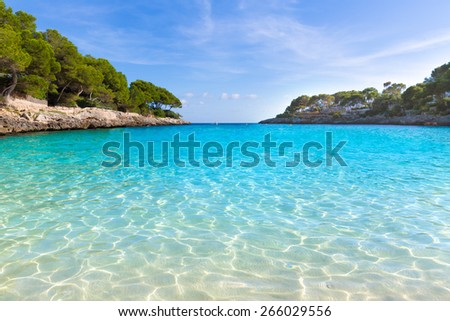 Majorca Cala Gran Beach in Cala Dor in Mallorca Santanyi at Balearic Islands of Spain - stock photo