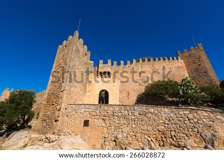 Majorca Capdepera Castle Castell in Mallorca balearic Island of spain - stock photo