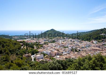 Majorca (Spain) : Castle of Capdevera - stock photo