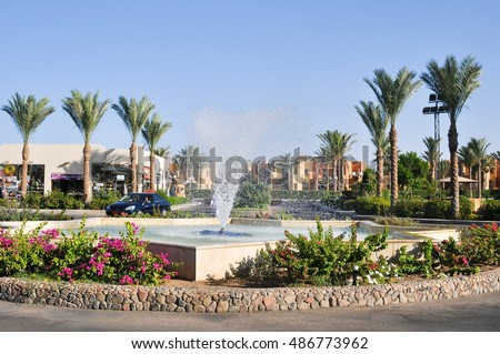 MAKADI BAY,EGYPT - JULY 9,2012: the Territory of the hotel