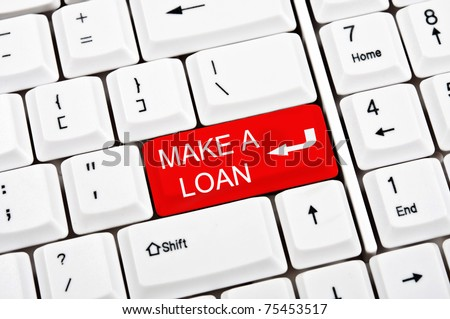 Make a loan key in place of enter key - stock photo