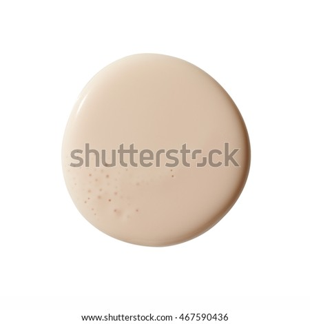 Make up base foundation in round shape on background