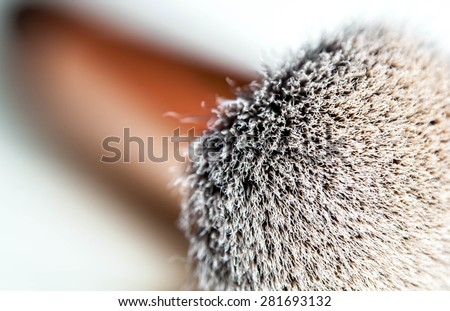 Make up brush. - stock photo