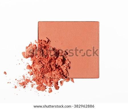 Make up crushed powder - stock photo