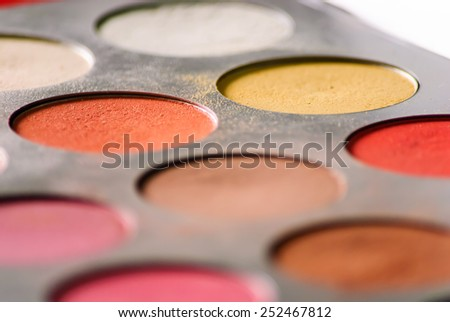 Make up eyeshadow palette - stock photo