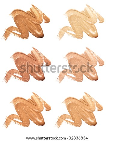 make-up foundation - stock photo