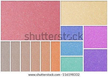 Make up palette of colorful eyeshadow - stock photo