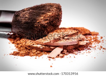 make-up powder  - stock photo
