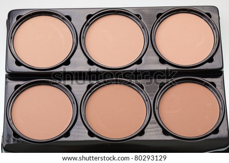 make-up powder and cosmetics rouge