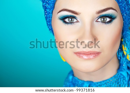 make-up woman - stock photo