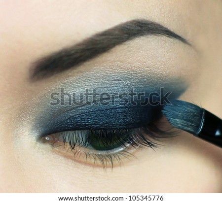 Make up your eyes - stock photo