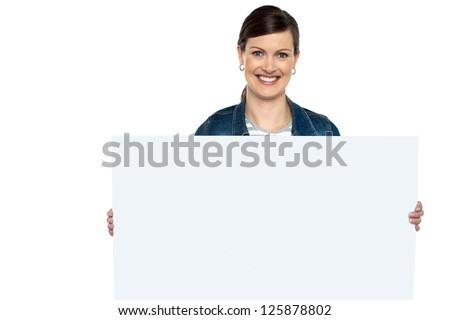 Make use of this blank ad board. Place your business ad here. - stock photo