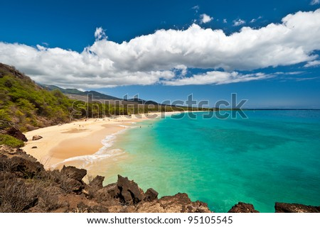 Makena Beach, in Maui, Hawaii - stock photo