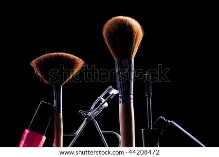 makeup accessories - stock photo