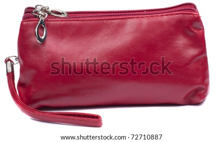 Makeup bag isolated on white