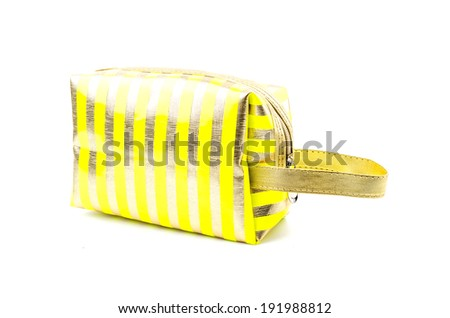 Makeup bag isolated white background