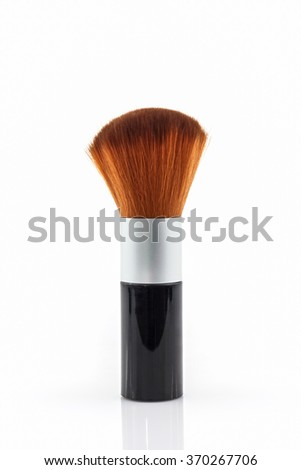 Makeup brush powder Blusher on white background.