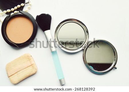 Makeup Eyeliner brush with bottle ,set of cosmetics,Make-up and brushes,powder, puff, mascara, eyeliner