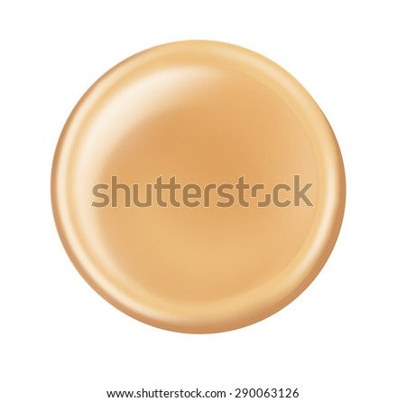Makeup foundation cream nude color circle shape applying on isolated - stock photo