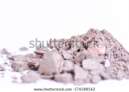 Makeup powder isolated on white background.