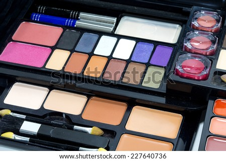 Makeup set - stock photo