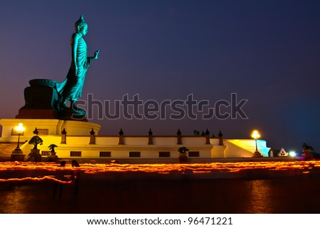 Makha Bucha Day in Thailand - stock photo