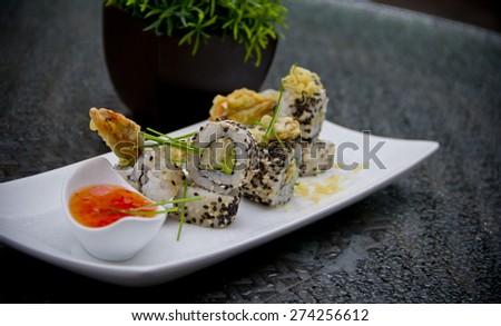Maki Sushi Roll  - stock photo